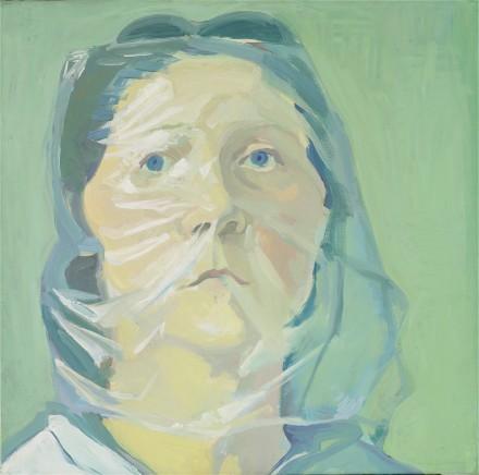 Maria Lassnig Selbstporträt unter Plastik (1972), Courtesy MoMA PS1
