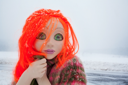 Laurie Simmons Orange Hair/Snow/Close Up (2014)