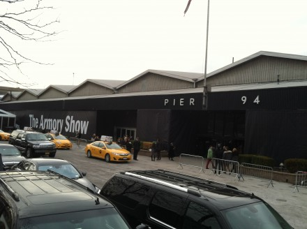 Outside the 2014 Armory Show
