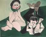 Pablo Picasso, Mangeuse de Pasteque et Homme Ecrivant (1965), via Bloomberg