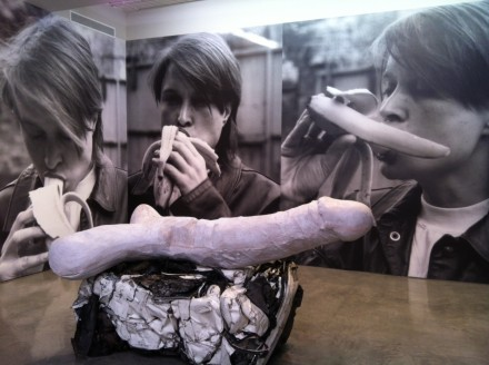 Sarah Lucas, Eros (2013) and Eating a banana (2014) via Osman Yerebakan