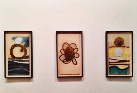 Three Pieces from Mira Schendel's Spray Series, via Art Observed