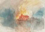 William Turner Watercolor, Burning of Tower of London, via Art Newspaper