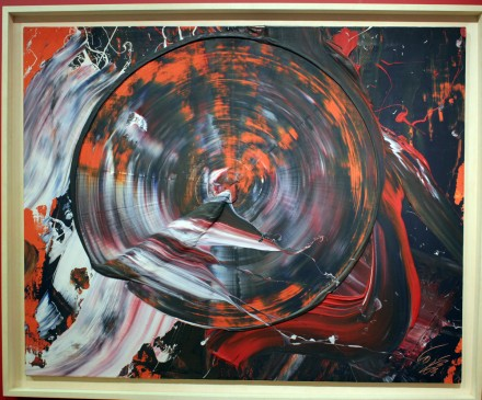 Kazuo Shiraga, via Art Observed