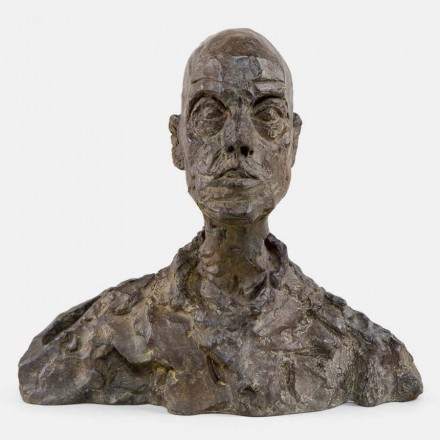 "Alberto Giacometti, Head of a Man (Lotar I),"" (1964-65) (cast 1968)"