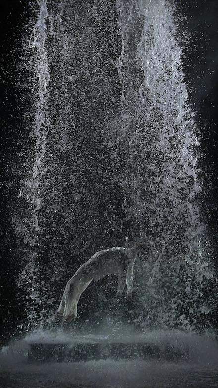 Bill Viola, Tristan's Ascension (The Sound of a Mountain Under a Waterfall) (2005) all images courtesy Grand Palais