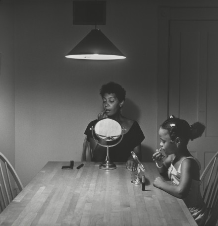 Carrie Mae Weems, Untitled (Woman and daughter with makeup) from Kitchen Table Series(1990), all images courtesy Solomon R. Guggenheim