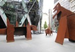 Chapman Brothers Dinosaur Sculptures, via Ham and High
