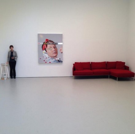 Jordan Wolfson (Installation View), via Art Observed
