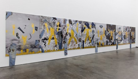 Korakrit Arunanondchai, Untitled (White Temple Paintings) (2013), Courtesy the artist and CLEARING, New York