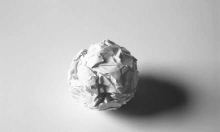 Martin Creed, Work No. 88, A sheet of paper crumpled into a ball, Courtesy Hayward Gallery