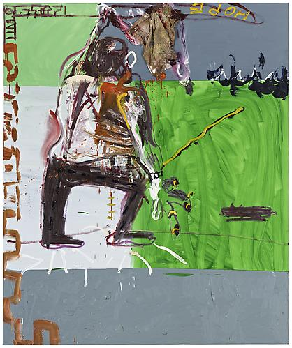 Martin Kippenberger, Untitled (from the series Raft of the Medusa) (1996), via Skarstedt