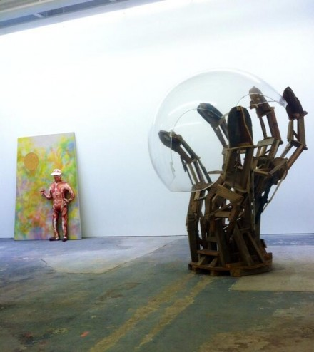 Peter Coffin, Agathe Snow, Willy Le Maitre, The Weird Show (Installation View), via Art Observed