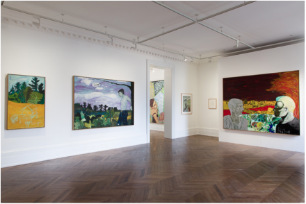 Peter Doig: Early Works (Installation View), all images courtesy Michael Werner Gallery