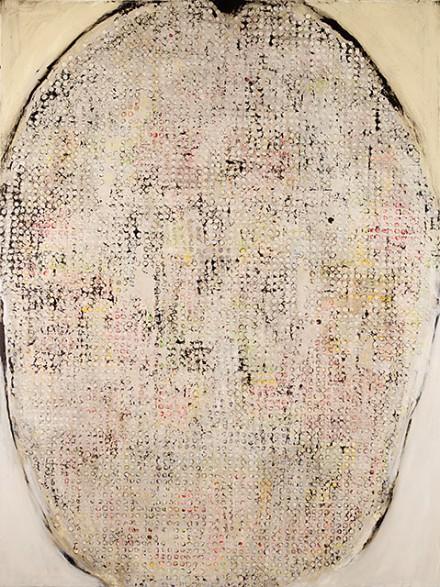 Ross Bleckner, Brain Rust (2013), via Mary Boone