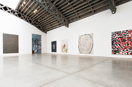 Ross Bleckner (Installation View), via Mary Boone