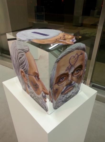 Urs Fischer at Lever House, via Art Observed