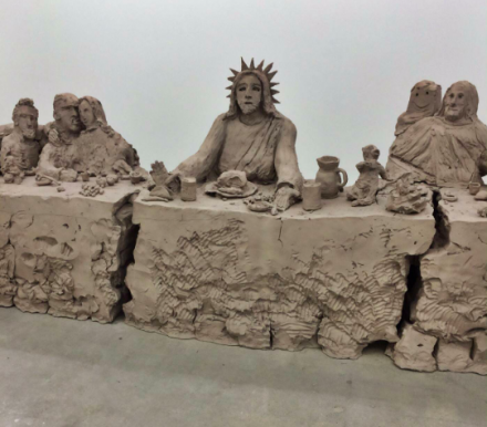 Urs Fischer, the last supper (2014), via Art Observed