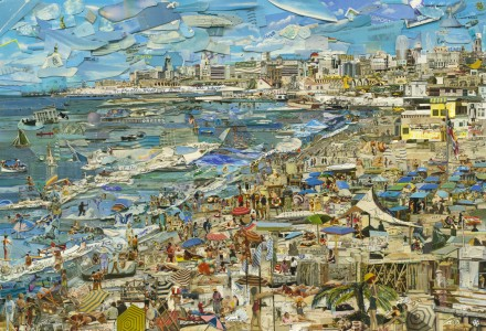 Vik Muniz, Beach (Postcards From Nowhere) (2014) Courtesy of the artist and Sikkema & Jenkins Co., New York