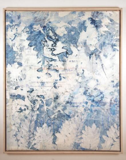 Allison Knowles, Cyanotype Painting via James Fuentes