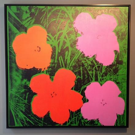Andy Warhol, Flowers (1964), via Art Observed