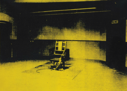Andy Warhol, Little Electric Chair (1965), via Christie's