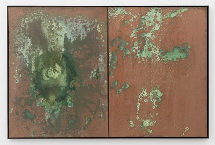 Andy Warhol, Oxidation Painting (diptych) (1978), via Skarstedt