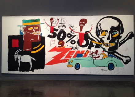 Andy Warhol and Jean-Michel Basquiat, Zenith (1985), via Art Observed