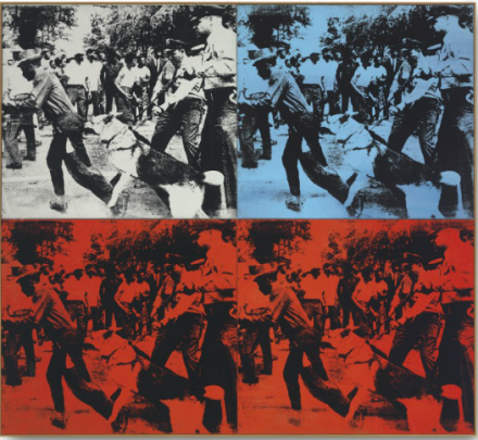 Andy Warhol. Race Riot (1964), via Christie's