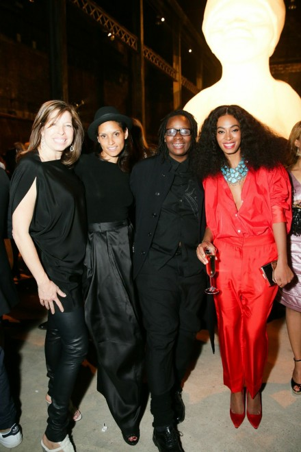 Anne Pasternak, Raquel Chevremont, Mickalene Thomas and Solange Knowles, Photography by David Prutting, Courtesy of BFA