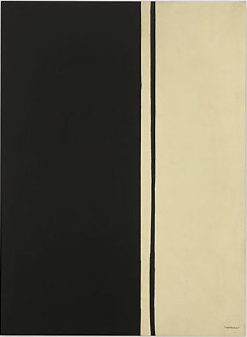 Barnett Newman, Black Fire I (1961), via Christie's