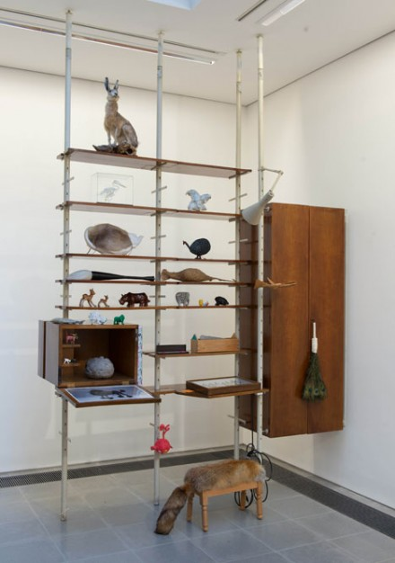Bookcase by Anna Castelli Ferrieri and objects chosen by Jurgen Bey. Courtesy of Serpentine Galleries