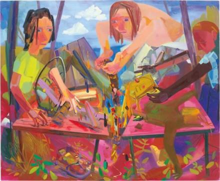 Dana Schutz, Reformers (2004), via Phillips
