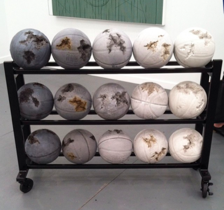 Daniel Arsham at Perrotin, via Art Observed