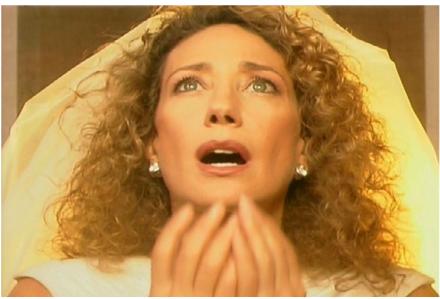 Francesco Vezzoli, A Love Triolgy Self-Portrait with Marisa Berenson as Edith Piaf (1999), via MoCA