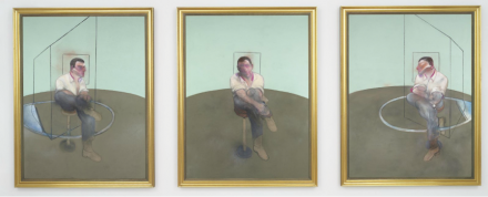 Francis Bacon, Three Studies for a Portrait of John Edwards (1984), via Christie's