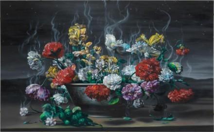 Glenn Brown, Necrophiliac Springtime via Gagosian