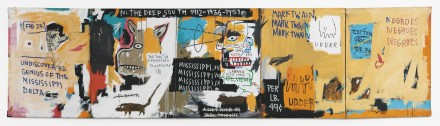 Jean-Michel Basquiat, Undiscovered Genius of the Mississippi Delta (1983), via Sotheby's