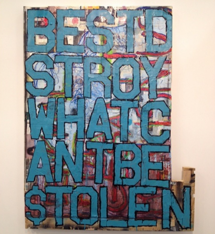 Justin Lieberman at Martos Gallery, via Art Observed