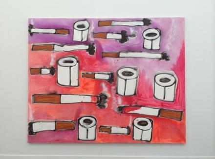 Katherine Bernhardt at Canada Gallery, via Art Observed