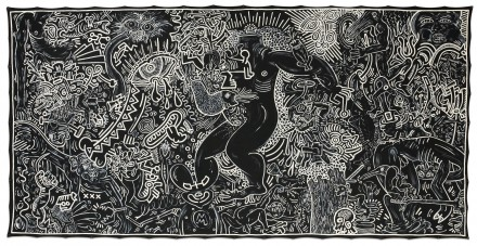 Keith Haring, Untitled (September 14, 1986), via Sotheby's