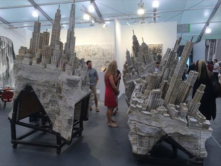 Liu Wei at Lehmann Maupin, via Art Observed