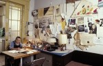 Louise Brougeois in her former home and studio, via WSJ