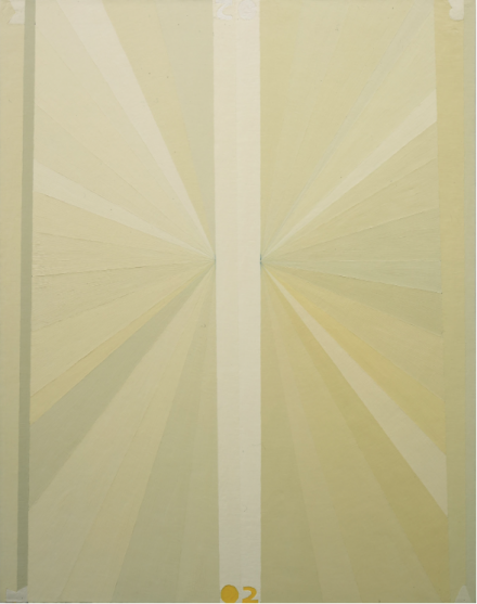 Mark Grotjahn, Untitled (Yellow White Butterfly Mark 02) (2002)