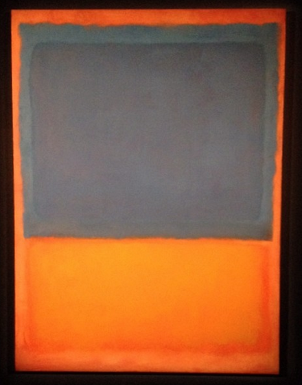 Mark Rothko, Untitled (Red, Blue, Orange) (1955), via Art Observed