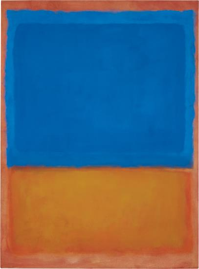 Mark Rothko, Untitled (Red, Blue, Orange) (1955), via Phillips