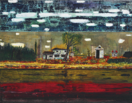 Peter Doig, Road House (1991), via Christie's