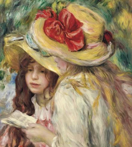 Pierre-Auguste Renoir, Les deux soeurs (Circa 1890-95), via Christie's