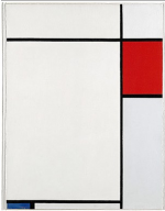 Piet Mondrian, Composition with Red, Blue and Grey, via Telegraph
