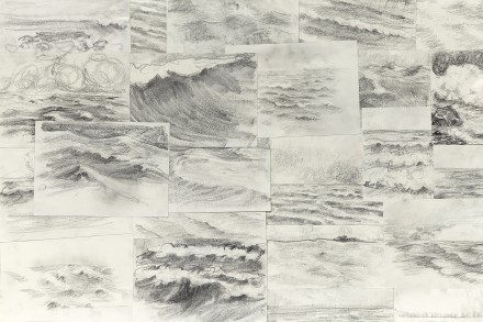 Ragnar Kjartansson, 41 Raging Pornographic Sea Drawings 2  (detail) via New Museum